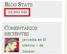 10.000 visitas ya ...