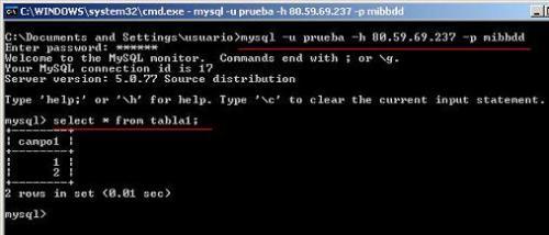 mysql -u prueba -h 80.59.69.237 -p mibbdd