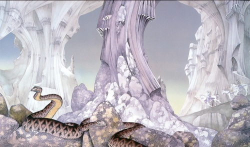 Portada del album Relayer de Yes. 1974