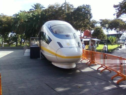 Tren expuesto en San Telmo - las Palmas de Gran Canaria - Canarias