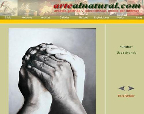 Una web con pinturas de artistas