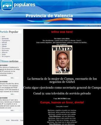 pagina_web_PP_provincial_Valencia_pirateada_caso_Gurtel